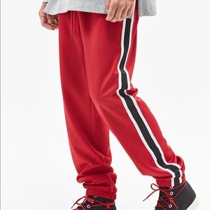 Unisex Red pac sun joggers SMALL